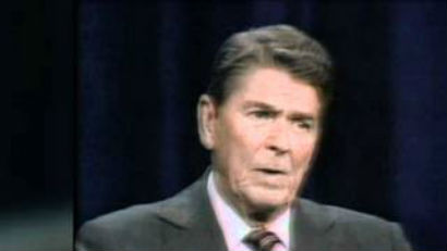 Reagan taking control of election debate by humiliating Walter Mondale