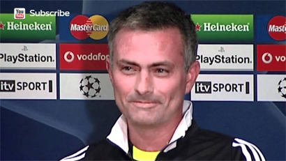 Jose explaining to press that you don't get omelettes without eggs