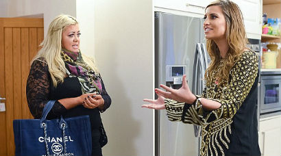 Ferne arguing with Gemma Collins over what was said in Ibiza