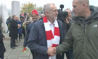 Jeremy corbyn quote to Tottenham Hotspur fan at London derby football match