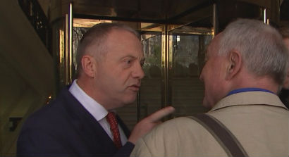John Mann shouting at Ken Livingston calling him a Nazi Apologist