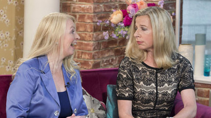 Katie arguing with Sonia Poulton about women in the workplace