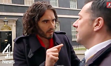 Russell Brand calling Paraic O'Brien from Channel 4 a snide