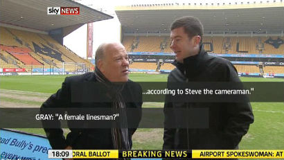 Andy reporting at the Molineux