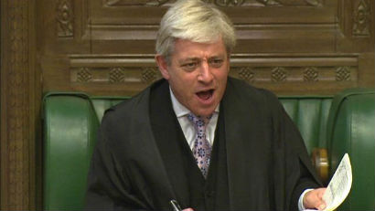 John shouting in The House of Commons