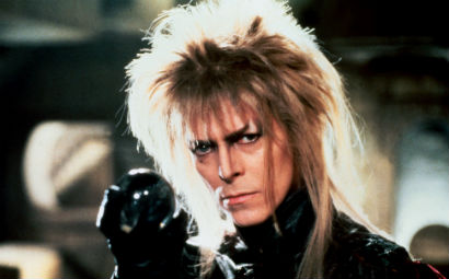 David as the evil Jareth in the movie Labyrinth