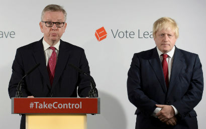 Quote Image - Michael Gove backstabbing Boris Johnson in leadership race